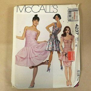 McCalls Pattern #4237 Fitted Party Dress Size 16